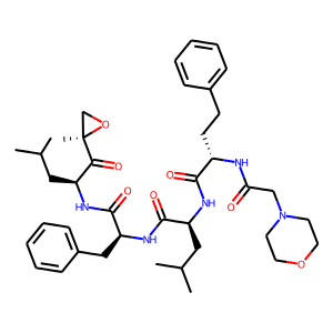Carfilzomib structure rendering