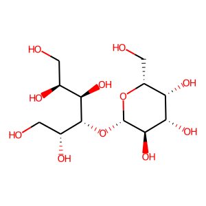 Lactitol structure rendering